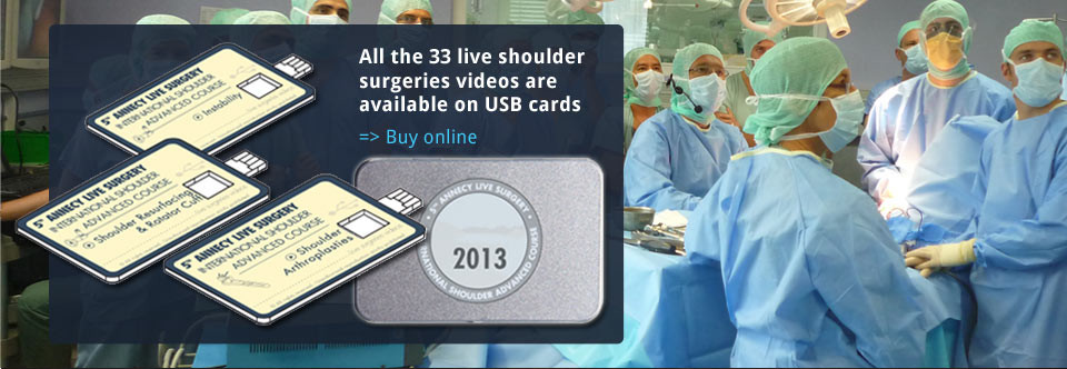 Live shoulder surgeries videos available on USB cards